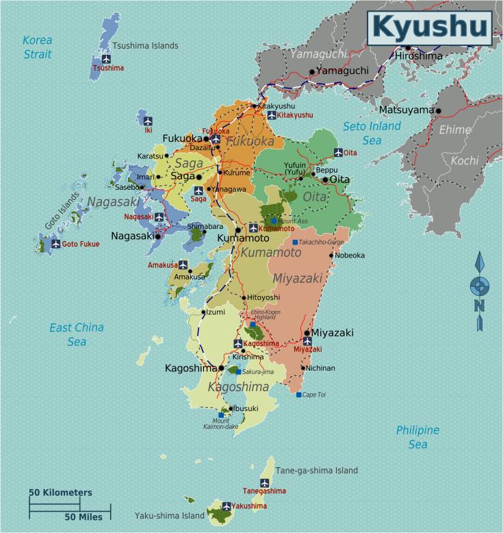Japan_Kyushu_Map