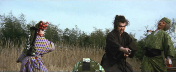 The soundtrack for Shogun Assassin is where my writing music started. Here Lone Wolf defeats three ninja women who are disguised as dancer acrobats in the circus de soleil of their day.